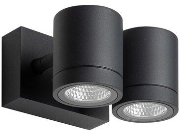 LED-Außenwandstrahler Myra grau, 8x12x14 cm