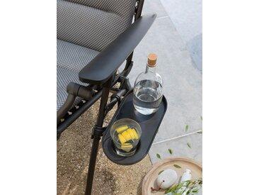 Getränkehalter/Ablage für Lafuma Liegen Lafuma schwarz, 29x18x7 cm