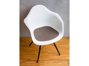 Ledersitzpad braun, Designer Thomas Albrecht, 0.3x42x40 cm