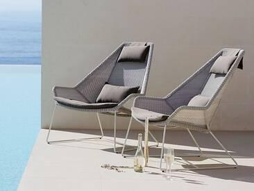 Highback Sessel Breeze Cane-line grau, Designer Christina Strand, Niels Hvass
