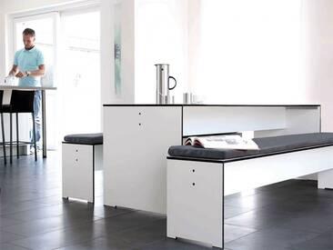Bank Riva Conmoto Weiß, Designer Schweiger & Viererbl, 44x216x35 cm