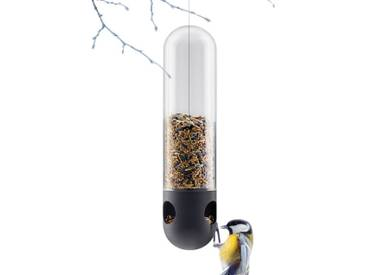 Vogelfutterröhre Eva Solo schwarz, Designer Tools Design, 29 cm
