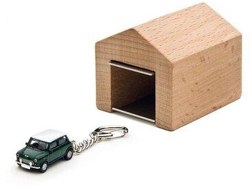 Schlüsselanhänger Mini Cooper mit Garage Corpus delicti grün, Designer André Rumann