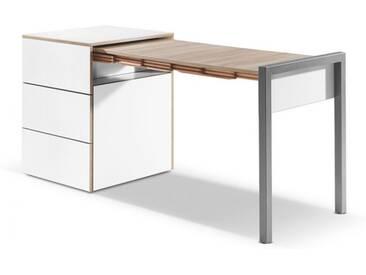 Ausziehtisch Alwin's Space Box Country Living weiß, 74x60/110x60 cm