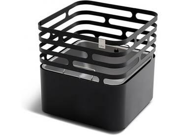 Feuerkorb Cube höfats schwarz, Designer Thomas Kaiser, Christian Wassermann, 44x43x43 cm