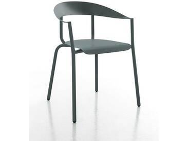 Stuhl Alu Mito Conmoto, Designer Pascal Bosetti, 78x60x52 cm