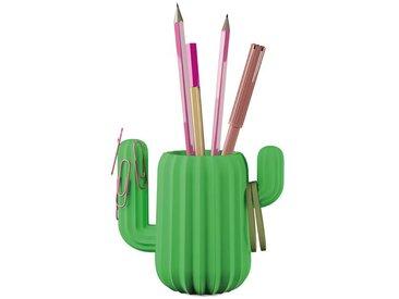 Schreibtisch Organizer Kaktus grün, 12.5x11.8x7 cm