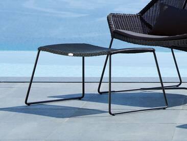 Hocker Breeze Cane-line schwarz, Designer Christina Strand, Niels Hvass, 36x74x36 cm