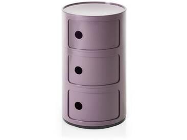Kartell Container Componibili violett, Designer Anna Castelli Ferrieri, 58.5 cm