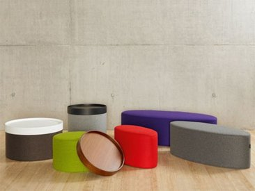 Softline Schemel Bon-Bon lila, Designer Busk & Hertzog, 33x60x30 cm