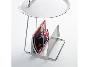 Zeitschriftenständer Maggy weiß, Designer Designstudio speziell®, 20x35.5x17.7 cm