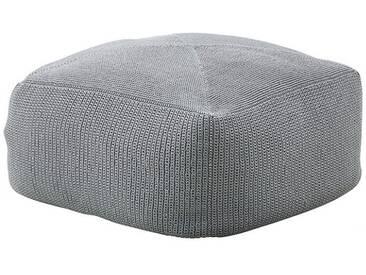 Hocker Divine Cane-line grau, Designer Cane-line Design-Team, 35x55x55 cm