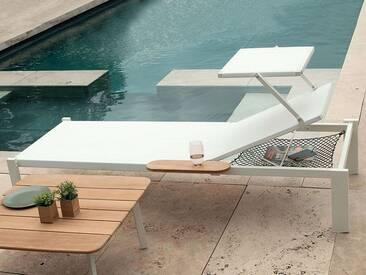 Sonnenliege Shine Emu Group Weiß, Designer Arik Levy, 133x77 cm