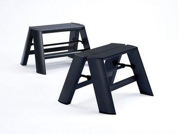 Trittstockerl Lucano Thomas Merlo schwarz, Designer Chiaki Murata, 28x39x15.5/57 cm