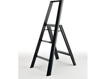 Trittleiter Lucano Thomas Merlo schwarz, Designer Chiaki Murata, 133x53x15.5 / 76 cm