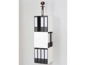 Aktenregal 2side vonbox weiß, Designer Matthias Hartmann, 102x33.5x33.5 cm