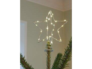 LED-Weihnachtsbaumspitze Christmas Top silber, Designer Sirius, 25x20x20 cm