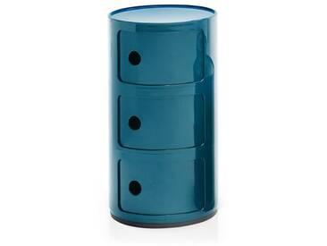 Kartell Container Componibili blau, Designer Anna Castelli Ferrieri, 58.5 cm