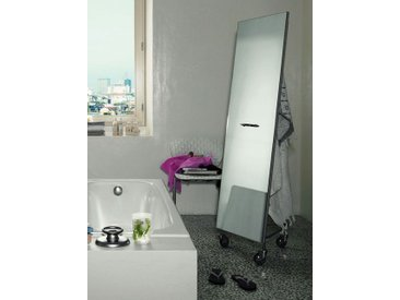Spiegel Narciso De Padova grau, Designer Enrico Franzolini, 175x50x45 cm