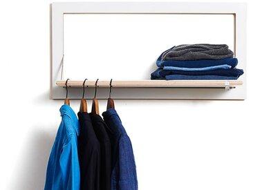 Garderobe Fläpps Kleiderstange Ambivalenz weiß, Designer Malte Grieb, 40x80x3/31 cm