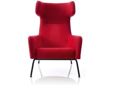 Softline Sessel Havana rot, Designer Busk & Hertzog, 107x79x96 cm