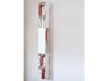 Bücherregal 2side vonbox weiß, Designer Matthias Hartmann, 165x19x17 cm