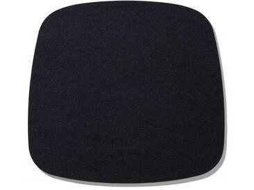 Hey-Sign Sitzauflage Eames Armchair schwarz, Designer Bernadette Ehmanns, 0.5x37x35 cm