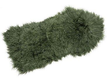 Tibetlammfell grün, Designer Thomas Albrecht, 3x110x50 cm