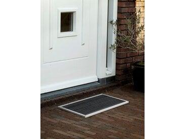 Outdoor-Fussmatte Urban RiZZ silber, Designer Teun Fleskens, 2.2x58x36 cm