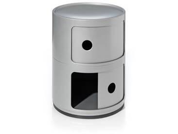 Kartell Container Componibili silber, Designer Anna Castelli Ferrieri, 40 cm