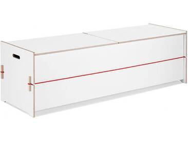 Nils Holger Moormann Truhe Trude weiß, Designer Nils Holger Moormann, 45x155x45 cm