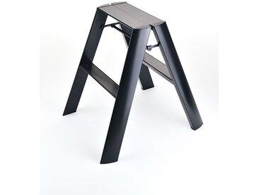 Trittleiter Lucano Thomas Merlo schwarz, Designer Chiaki Murata, 62x48.5x57 cm