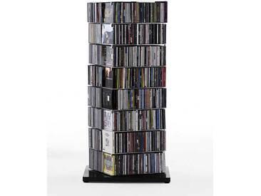 Opinion Ciatti CD-Säule Ptolomeo X4 schwarz, Designer Bruno Rainaldi, 110x52x52 cm
