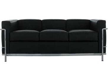 Cassina Cassina LC2 3-Sitzer grau, Designer Le Corbusier, 67x180x70 cm