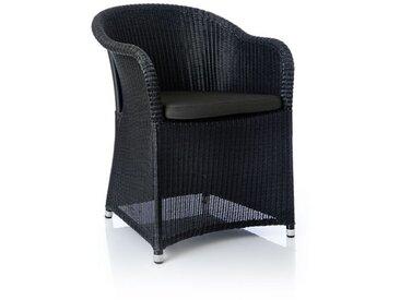 Geflechtstuhl Tould schwarz, 80x60x60 cm
