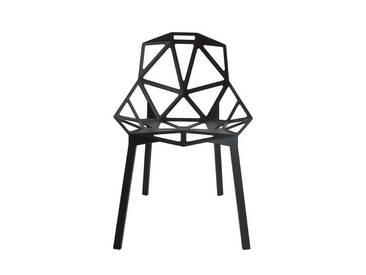 Gartenstuhl Chair_One Magis Schwarz, Designer Konstantin Grcic, 82x55x59 cm