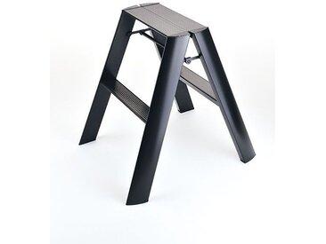 Sicherheitstrittleiter Lucano Thomas Merlo schwarz, Designer Chiaki Murata, 62x48.5x15.5 / 57 cm