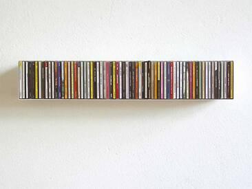 CD-Regal Linea 1 linea1 weiß, Designer Apuzzo & Jurasic, 12.6x70x15.6 cm