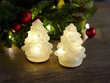 künstlicher Weihnachtsbaum, 2er-Set Cilja Tree weiß, Designer Sirius, 8 cm
