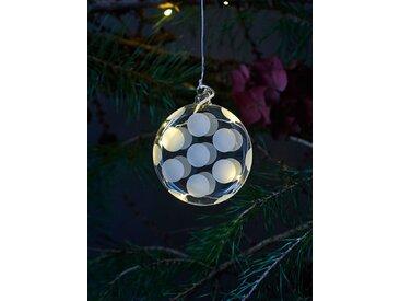 LED-Weihnachtsanhänger Polka Sirius weiß, Designer Pernille Struer, 1.5 cm