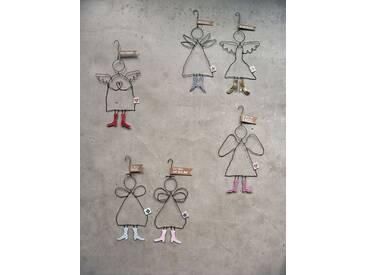 Anhänger Schutzengel Good old friends, Designer Sarah Baumann, 15x8x0.3 cm