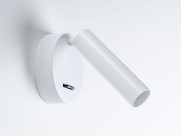 LED-Wandleuchte mit Schalter New Milan weiß