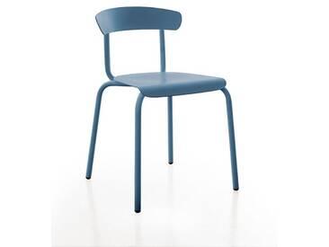 Stuhl Alu Mito Conmoto blau, Designer Pascal Bosetti, 78x50x52 cm