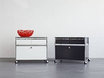 USM Rollcontainer, Designer Prof. Fritz Haller, 63x78x53 cm