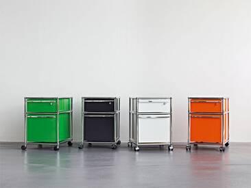 USM Rollcontainer mit Hängeregistratur grün, Designer Prof. Fritz Haller, 61x42x53 cm