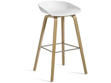 HAY Barsitz About A Stool AAS32 weiß, Designer Hee Welling, 86x50x46 cm
