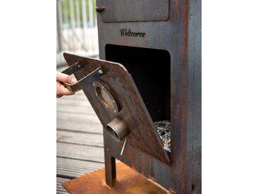 Tür für Outdoorofen Weltevree, Designer VanHoffOntwerpen, 35x40xinkl. Griff 13 cm
