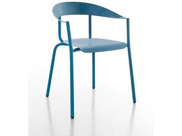 Stuhl Alu Mito Conmoto blau, Designer Pascal Bosetti, 78x60x52 cm
