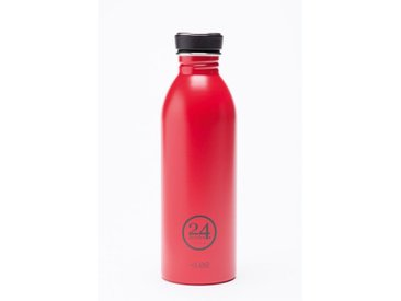 Trink-Flasche Urban Bottle rot, Designer 24Bottles Design Bologna, 21 cm
