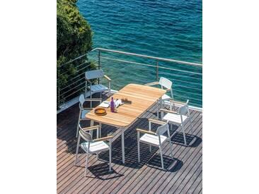 Tisch Shine Emu Group braun, Designer Arik Levy, 76x225x100 cm